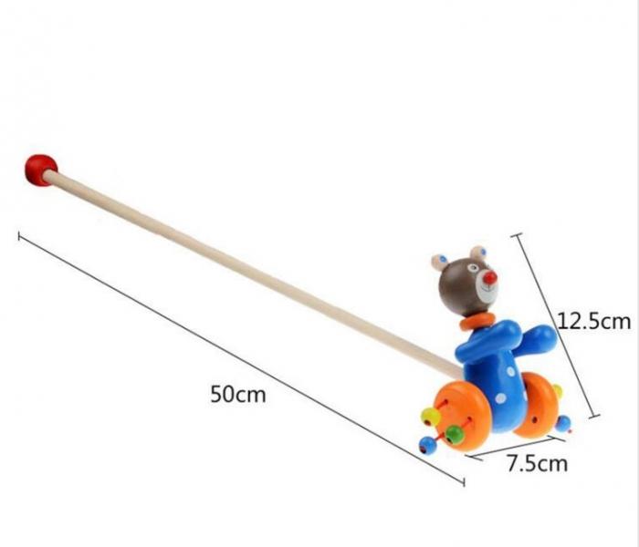 Jucarie din lemn de impins - Ursulet