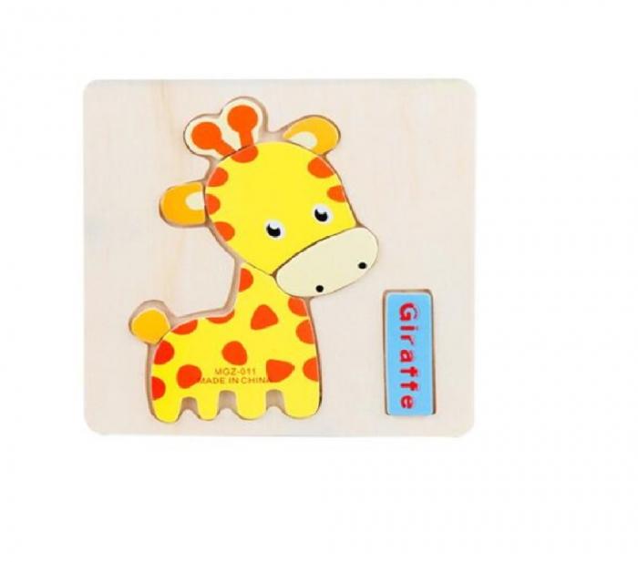Puzzle incastru din lemn Girafa